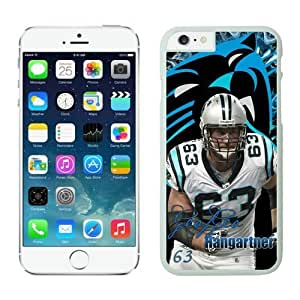 Carolina Panthers Geoff Hangartner Case For iPhone 6 Plus White 5.5 inches