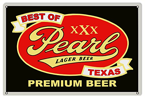 Victory Vintage Signs Reproduction Pearl Lager Beer Bar and Restaurant Sign