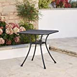 Commercial & Home Steel Mesh Bistro Table 28'' Patio Outdoor