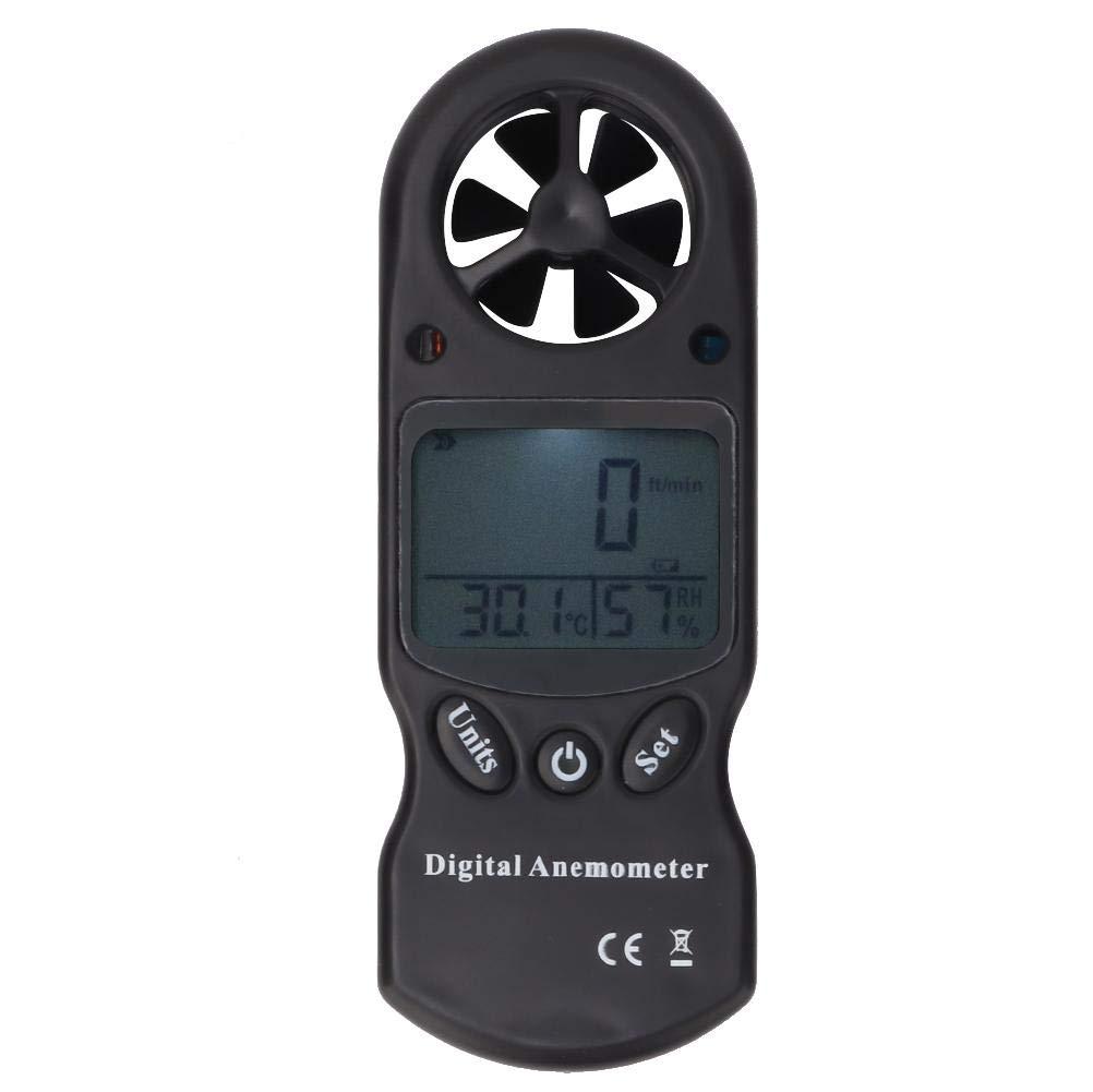Thermom/ètre num/érique multifonctionnel 3-en-1 /à vent portable An/émom/ètre Mini d/ébit dair D/ébitm/ètre dair pour la randonn/ée