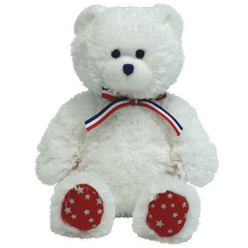 Ty Beanie Babies Uncle Sam - Bear White