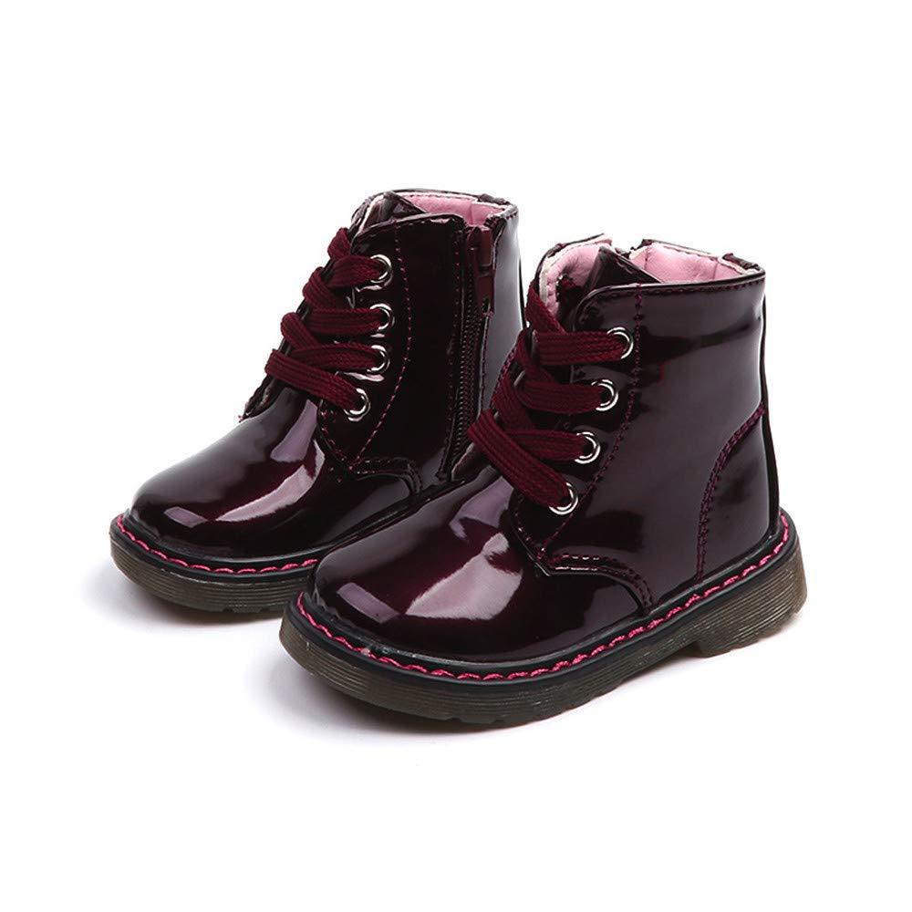 Kintaz Baby Boys Girls Waterproof Side Zipper Lace-up Ankle Boots Toddler//Little Kid//Big Kid