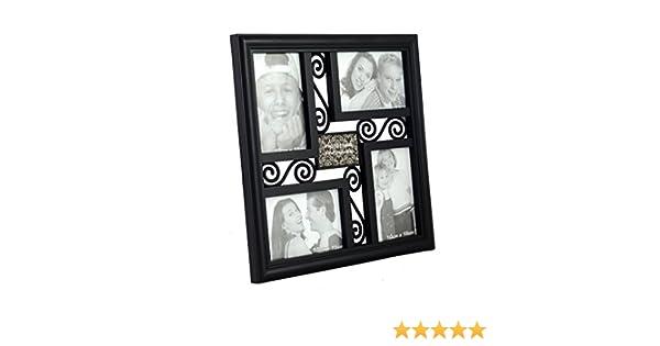 Homeline Marco de Fotos titulaires de Varios Pared (34 x 34 cm) PVC-Noir: Amazon.es: Hogar
