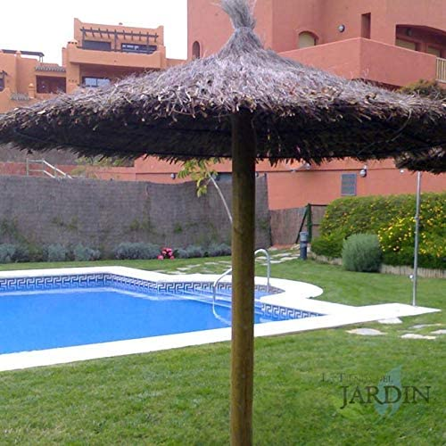 SOMBRILLA JARDIN de BREZO 2,40 METROS para piscinas, playas o jardines: Amazon.es: Bricolaje y herramientas