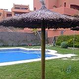SOMBRILLA JARDIN de BREZO 2 METROS para piscinas, playas o jardines: Amazon.es: Bricolaje y herramientas