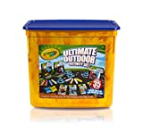 Crayola Ultimate Outdoor Activity Set, Bean Bag Toss and Obstacle Course games, Sidewalk Chalk, Glitter Chalk