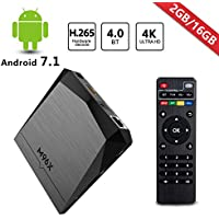 RBSCH M96X Smart Tv Box Android 7.1 Amlogic S905X Quad Core 64bit 2GB / 16GB 4K HD LAN Dual band 2.4G+5G Wifi with BT Mini Home player