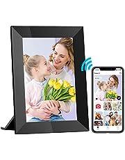 Hyjoy Digitale fotolijst, wifi, digitale fotolijst met IPS-touchscreen, HD-display, 8 GB geheugen, eenvoudig in te stellen voor het delen van foto's of video's overal via de AiMOR-app
