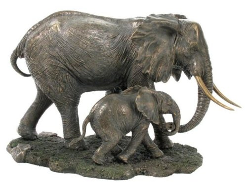 Unicorn Studios WU74802A4 Elephant and Baby Elephant Sculpture from Unicorn Studios