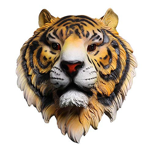 Ol'Royal Asian Tiger Head Wall Décor Accents Animal Lion Head Wall Mount Sculpture for Living Room Cottage Wall Hanging for Bedroom, Farmhouse, Man Cave, Nursery Home Decoration