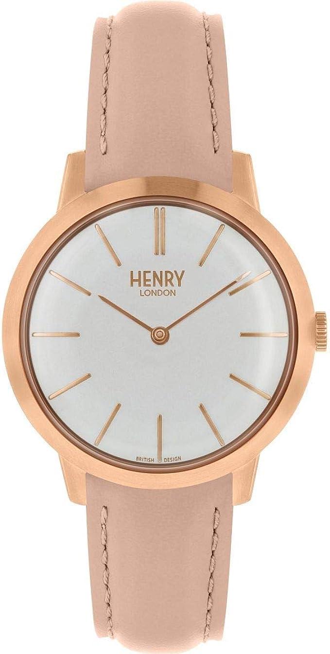 Henry London HL34-S0222 - Reloj analógico de cuarzo para mujer con ...