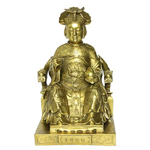 FENGSHUI Handmade Ancient Chinese Gods Statue Decoration Gift Brass Finish Good Luck God Collectible Figurines (Wangmu)