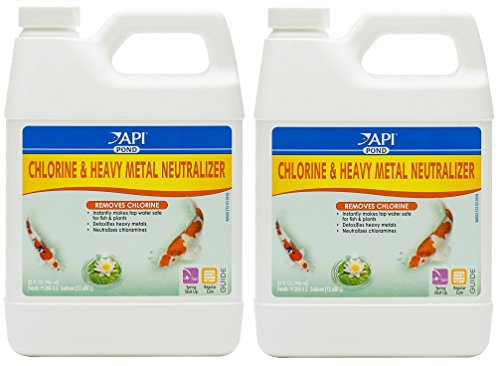 API pond (2 Pack) Mars Fishcare Pondcare Chlorine and Heavy Metal Neutralizer 32 - Neutralizer Heavy Metal