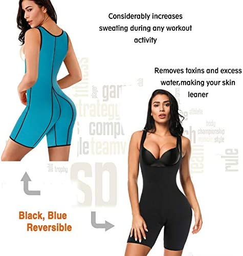 RIBIKA Neoprene Sauna Suit for Women Full Body Shaper Compression Slimming Shapewear Sweat Bodysuit 4