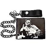 Johnny Cash Men's Finger Bi-Fold Wallet Black