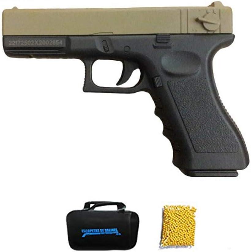 Golden Eagle G18 TAN | Pistola de Airsoft Calibre 6mm (Arma Aire Suave de Bolas de plástico o PVC). Sistema: Muelle. 0.4 Julios.