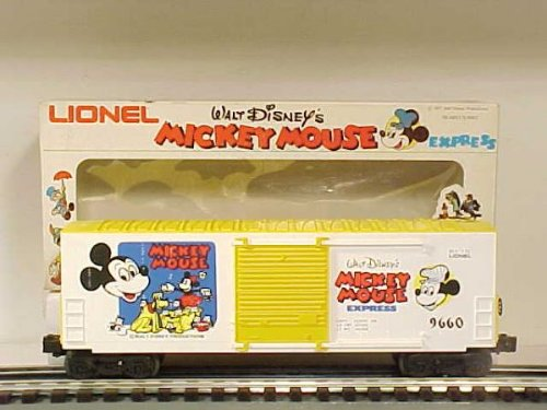 Lionel 9660 Disney Mickey Mouse Express Hi Cube Box Car O Gauge
