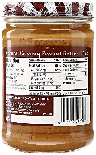 Smucker's Natural Creamy Peanut Butter, 16 oz - Buy Online ...