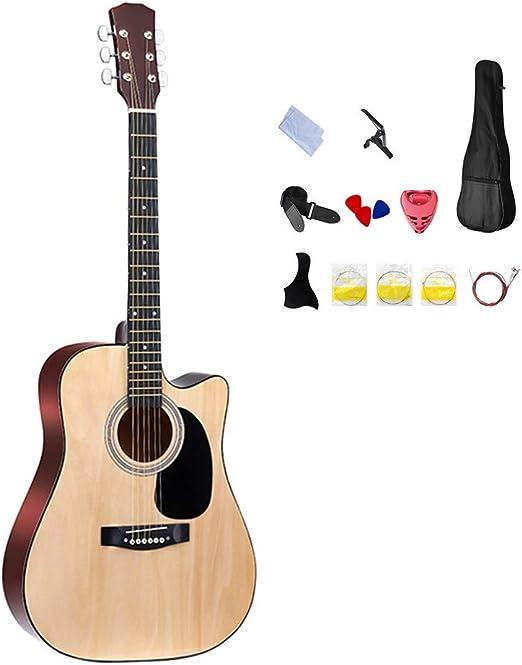 BAIYING-Guitarra Acústica Guitarra Clasica 41 Pulgadas ...