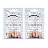 Mermazing Mermaid Underwater 118 Piece Nail Stickers Pack of 2