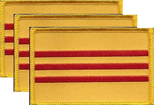 PACK of 3 South Vietnam Flag Patches