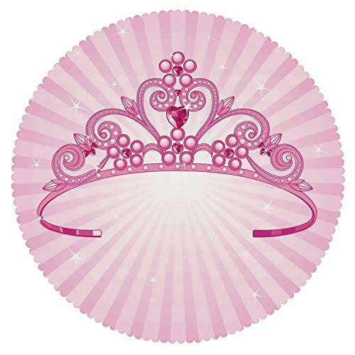 Round Tablecloth [ Kids,Beautiful Pink Fairy Princess Costume
