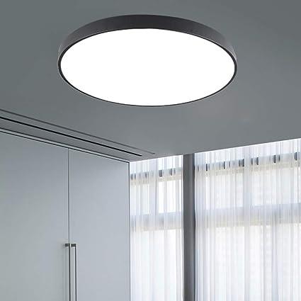 BFMBCHDJ Lámpara de techo Led moderna Sala de estar Lámpara de dormitorio Pasillo Balcón Lámpara de techo Led Lámpara de techo de cocina 64W 600MM Grano de madera: Amazon.es: Iluminación