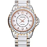 GNOTH Luxury Gorgeous Elegant Fashion Ceramic Business Watch for Wrist Women