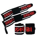 Farabi Frabi Wrist Straps Weight Lifting Wrist Straps Gym Wrist Support Powerlifting Wrist Strap Wrist Wrap Crossfit lifting wraps Weight Lifting Straps Wrist Support Training Wrist wraps