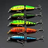 WALLER PAA 1 pcs Kinds of Fishing Lures Crankbaits Hooks Minnow Baits Tackle