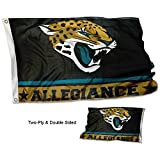 Jacksonville Jaguars Double Sided Allegiance Flag