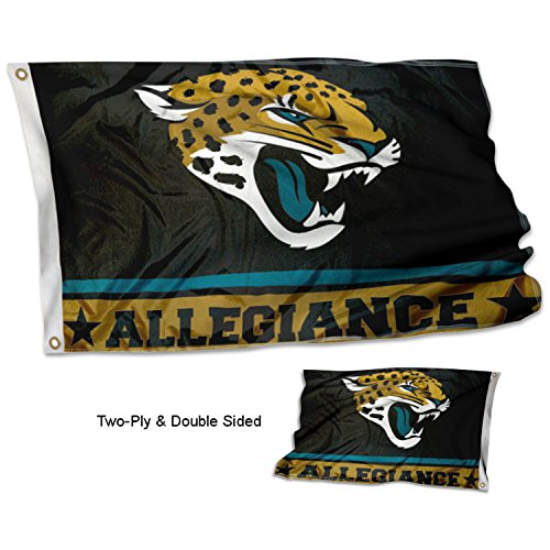 Jacksonville Jaguars Double Sided Allegiance (Jaguar Flag)