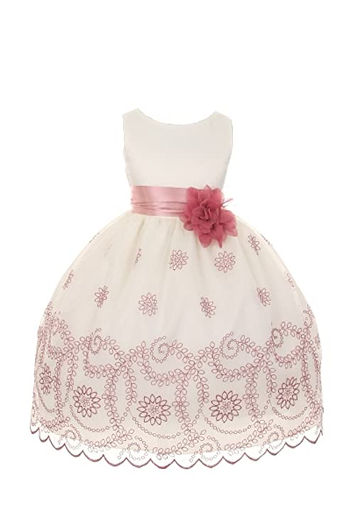 83f19905d11 Embroidered Flower Girl Dress – Fashion dresses