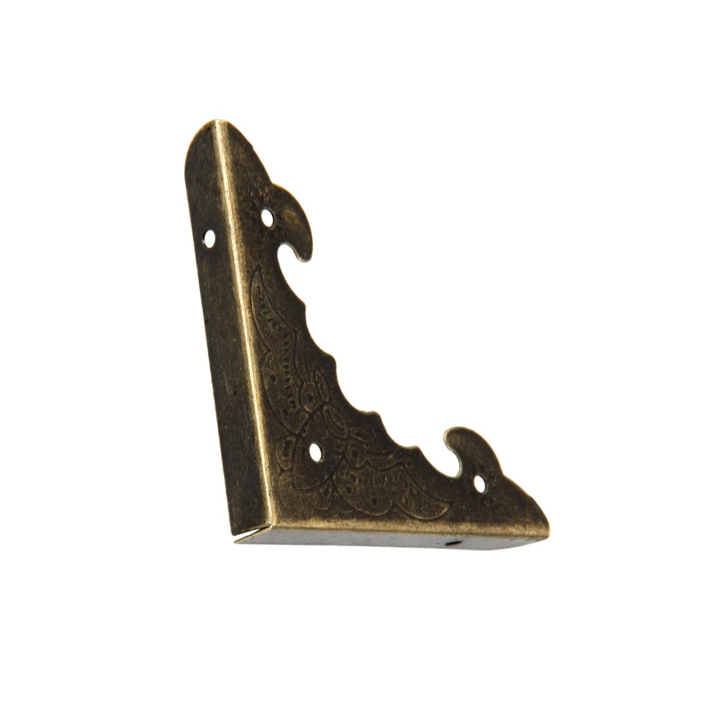 Jili Online Corner Fittings for Jewelry Gift Wood Box Corner Protector Antique Brass Pack of 100