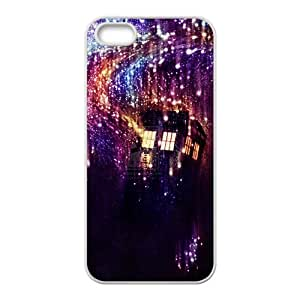 Doctor Who Tardis Police Call Box Starry Night Art Pattern Case For iPhone 5 and iphone 5s