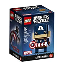 LEGO 6175564 BrickHeadz Captain America 41589 Building Kit