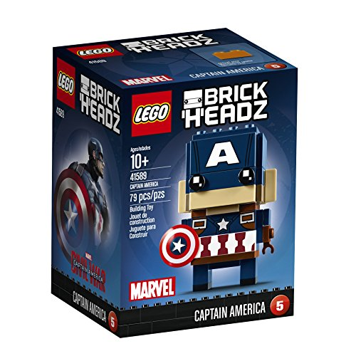 Captain+America Products : LEGO BrickHeadz Captain America 41589 Building Kit
