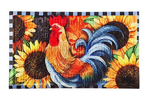 Evergreen Rooster Walk Nylon Magnetic Mailbox Cover for Standard Sized Mailboxes