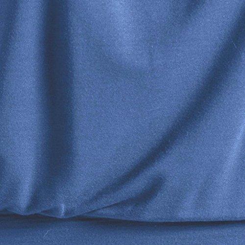 Été Chemise Blouse Sans Femme Veste Débardeurs Lonupazz Taille Tops Grande Manches Volants Bleu Sexy Tank Camisole 7COIfR