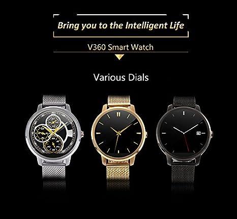 Amazon.com: 2016 New Round Smart Watch V360 Camera Bluetooth ...