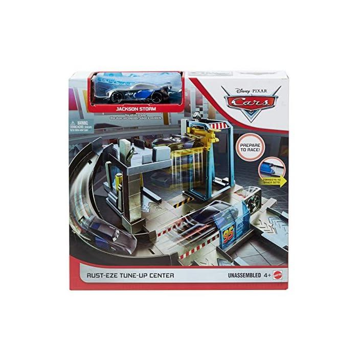 51aF3m%2BvPsL Centro de reparación de Cars de Disney Pixar para recrear las escenas de la película y contar historias Entre las diferentes zonas de juego se incluyen un surtidor de gasolina, un túnel de lavado y otro de viento, y un puente El puente se transforma en un ascensor que funciona de verdad