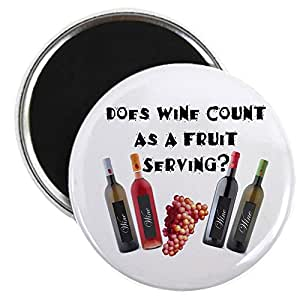 "CafePress - Wine As Fruit2? - 2.25"" Round Magnet, Refrigerator Magnet, Button Magnet Style"