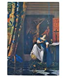 Vermeer Allegory Of Faith Kitchen Bar Glass Cutting Board 11''x8''