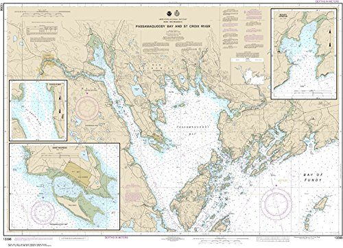 NOAA Chart 13398 Passamaquoddy Bay and St. Croix River; Beaver Harbor; Saint Andrews; Todds Point: 32.55