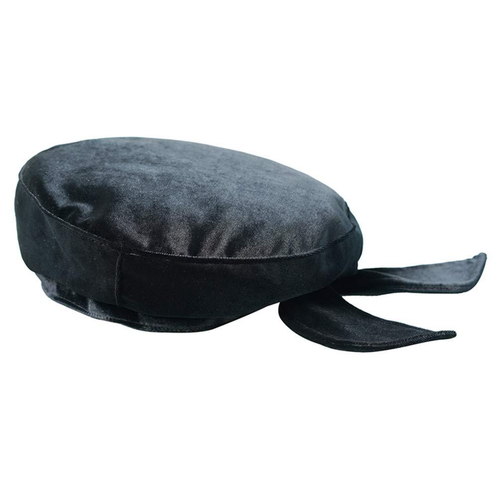 KYWBD Suede Beret,Solid Color Painter Hat Bow Tie Hat