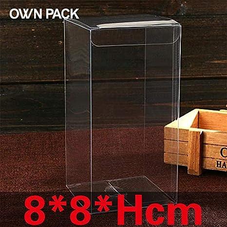 Dorime 10 PC / 8 * 8 * Hcm Cajas de Embalaje/Caja/el Chocolate Recipiente de plástico/al por Menor/Caja de Caramelos/Paquete de Regalo/Cajas de PVC/Personalizados