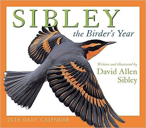 Calendar Sibley The Birders Year 2016 Box//Daily