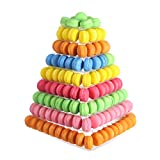 9 Tier Clear Square Plastic Macaron Tower Stand Wedding Birthday Display