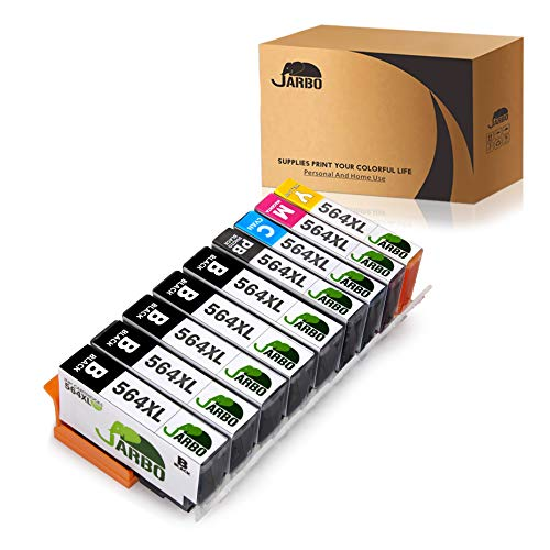 ible Ink Cartridge Replacement for HP 564XL 1 Set+4 Black Used in HP Photosmart 5520 6520 7520 5510 6510 7510 7525 B8550 C6380 D7560 Premium C309A C410 Officejet 4620 Deskjet 3520 ()