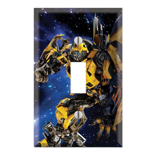 (Single Toggle Wall Switch Cover Plate Decor Wallplate - Transformers Bumblebee)